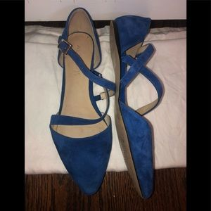 Also suede flats size 9